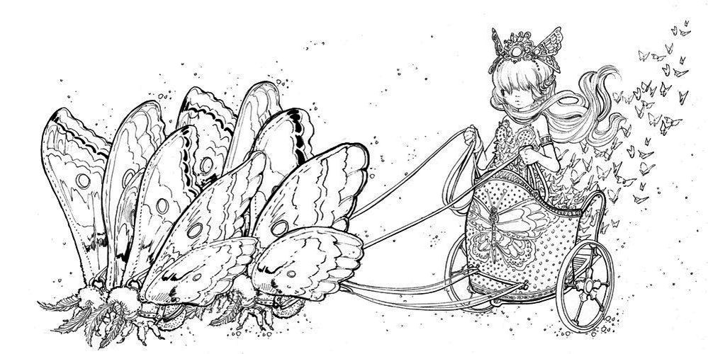 Pop-Manga-Coloring-Book-A-Surreal-Journey