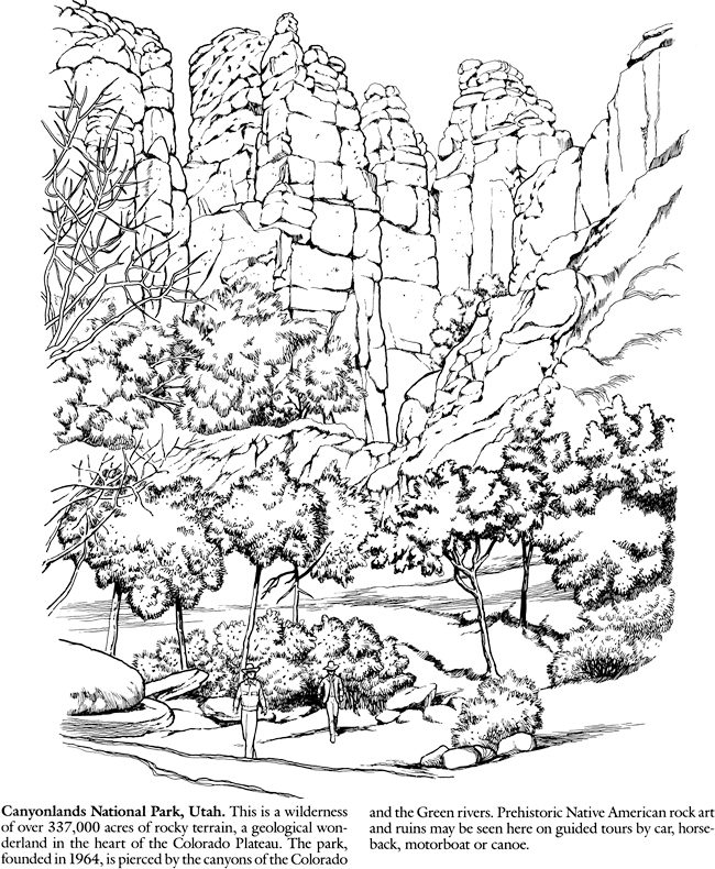 canyonlands-national-parks-coloring-pages