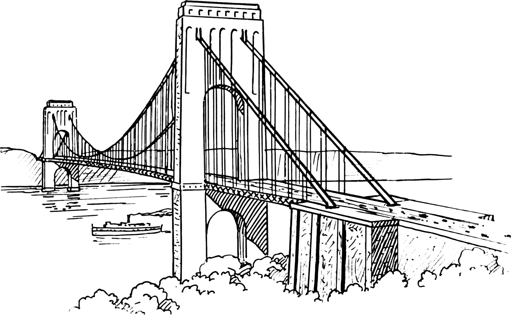 the-Golden-Gate-Bridge-Drawing