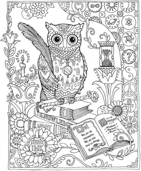 Mandala-Owl-and-book-coloring-page