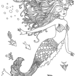 Myth-Realistic-Mermaid-Illustrations-Coloring-Page