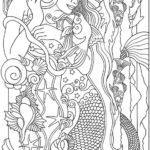 Realistic-Mermaid-Illustrations-Coloring-Books