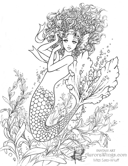 Realistic-Mermaid-Illustrations-Print-Out-Drawing