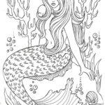 Realistic-Mermaid-Illustrations-Undersea-Coloring-Sheets