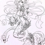 mermaid_coloring_designed_by_xotakumix