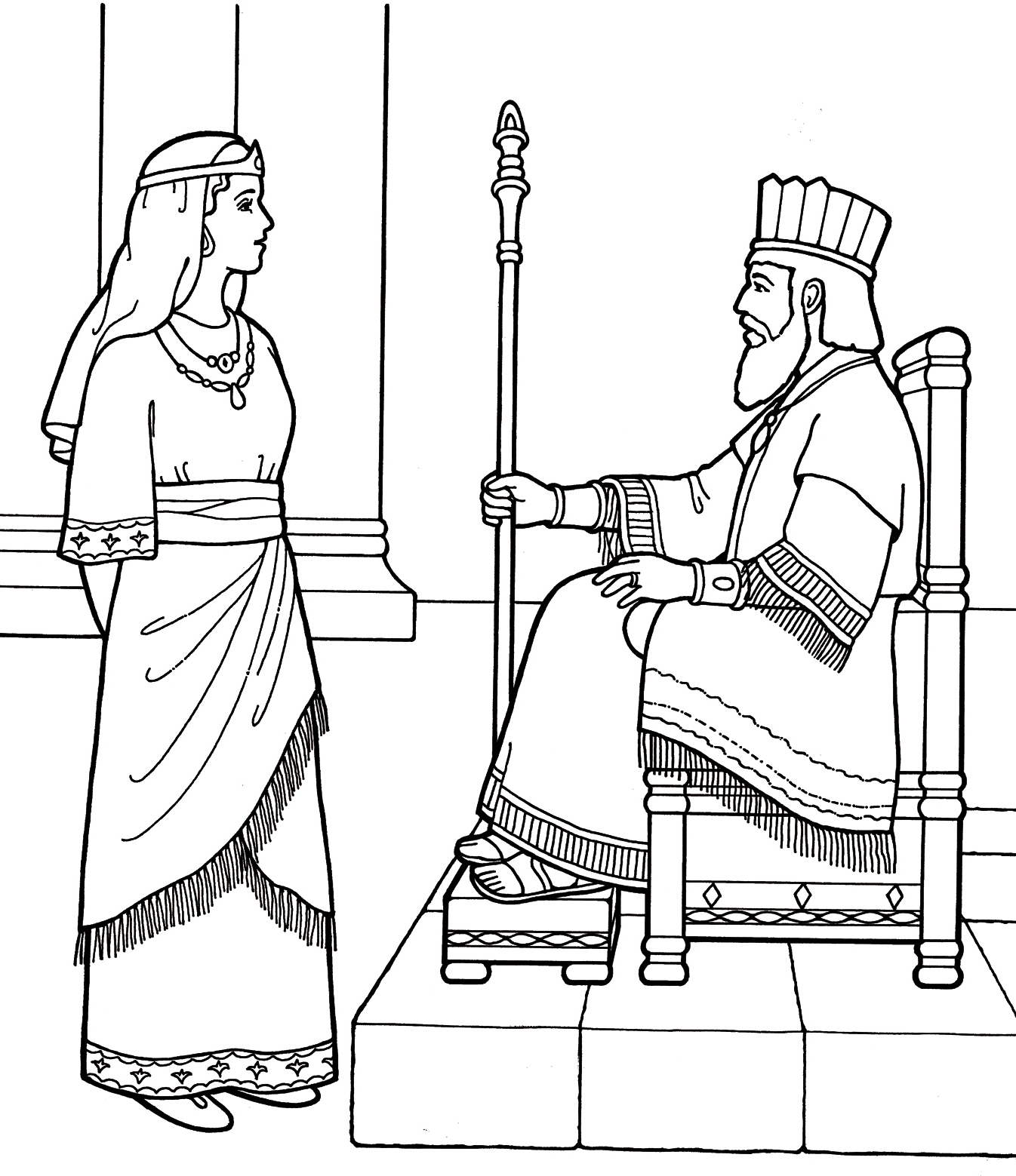 Queen Ester Coloring Page To Print