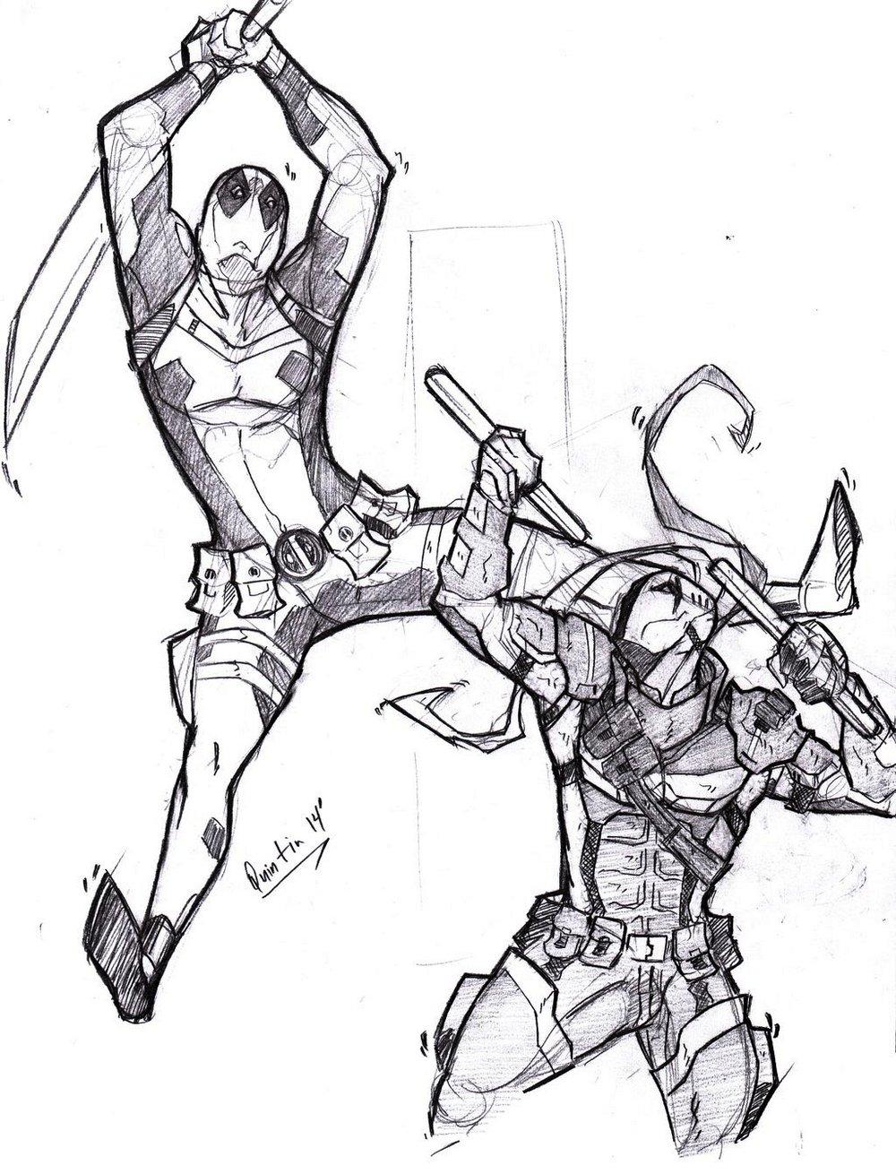deadpool_vs__deathstroke_coloring_page_supervillian