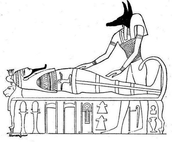 Egyptian Mummy Coloring Page Printable