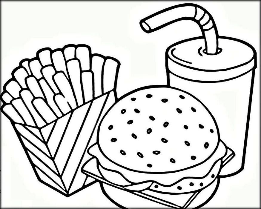 Junkfood Printable Fast Food Coloring Pages