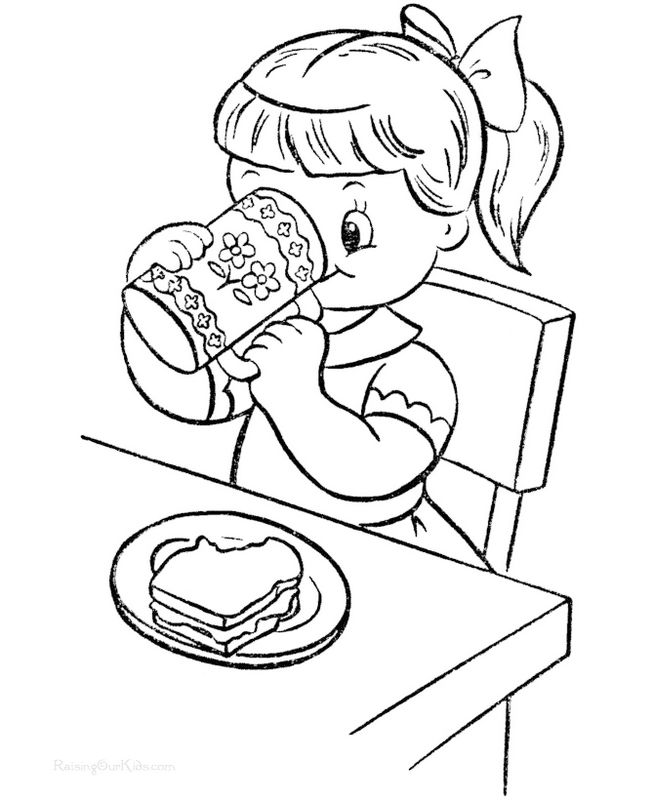 Kids Have Breakfast Coloring Books