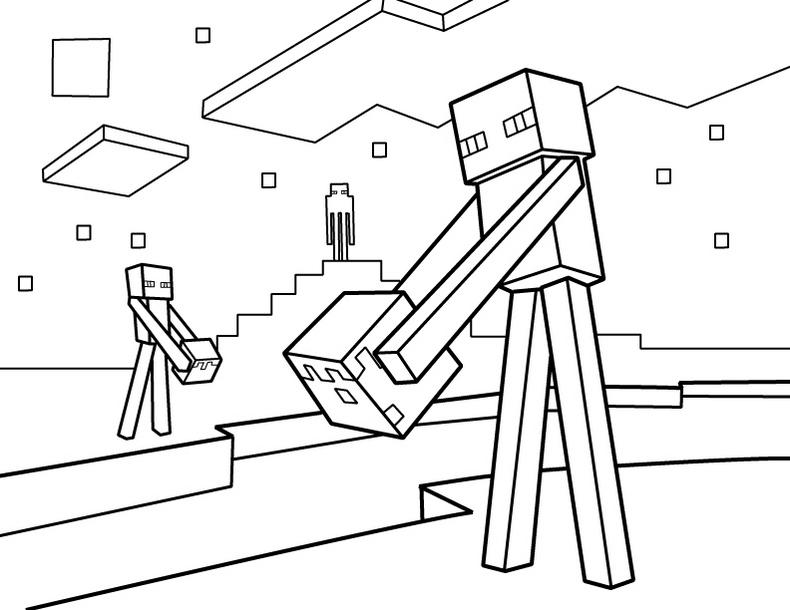 Minecraft Coloring Illustrations
