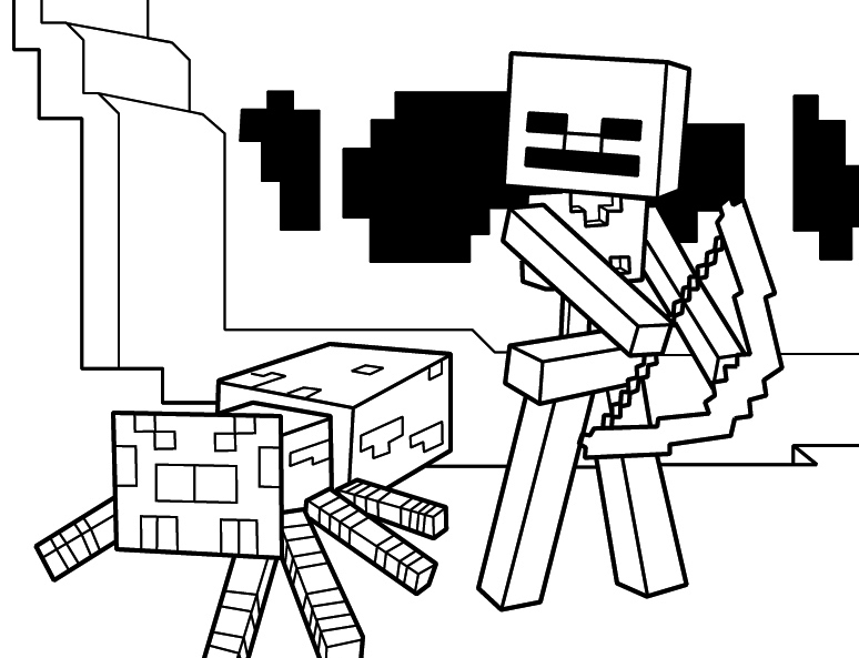 Minecraft Coloring Page Printable For Kids