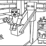 Minecraft Enderman Coloring Page
