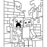 Minecraft Mutant Creeper Coloring Page 1