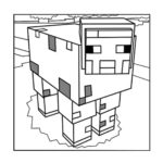 Minecraft Pig Coloring Sheet
