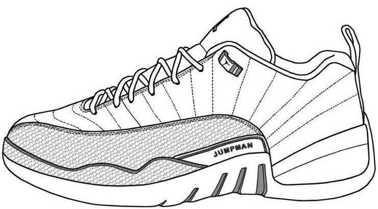 Model Jumpman Jordan Shoe Coloring Pages 740x409