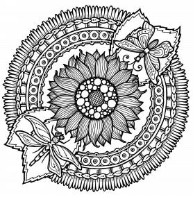 sunflower-mandala-coloring-book