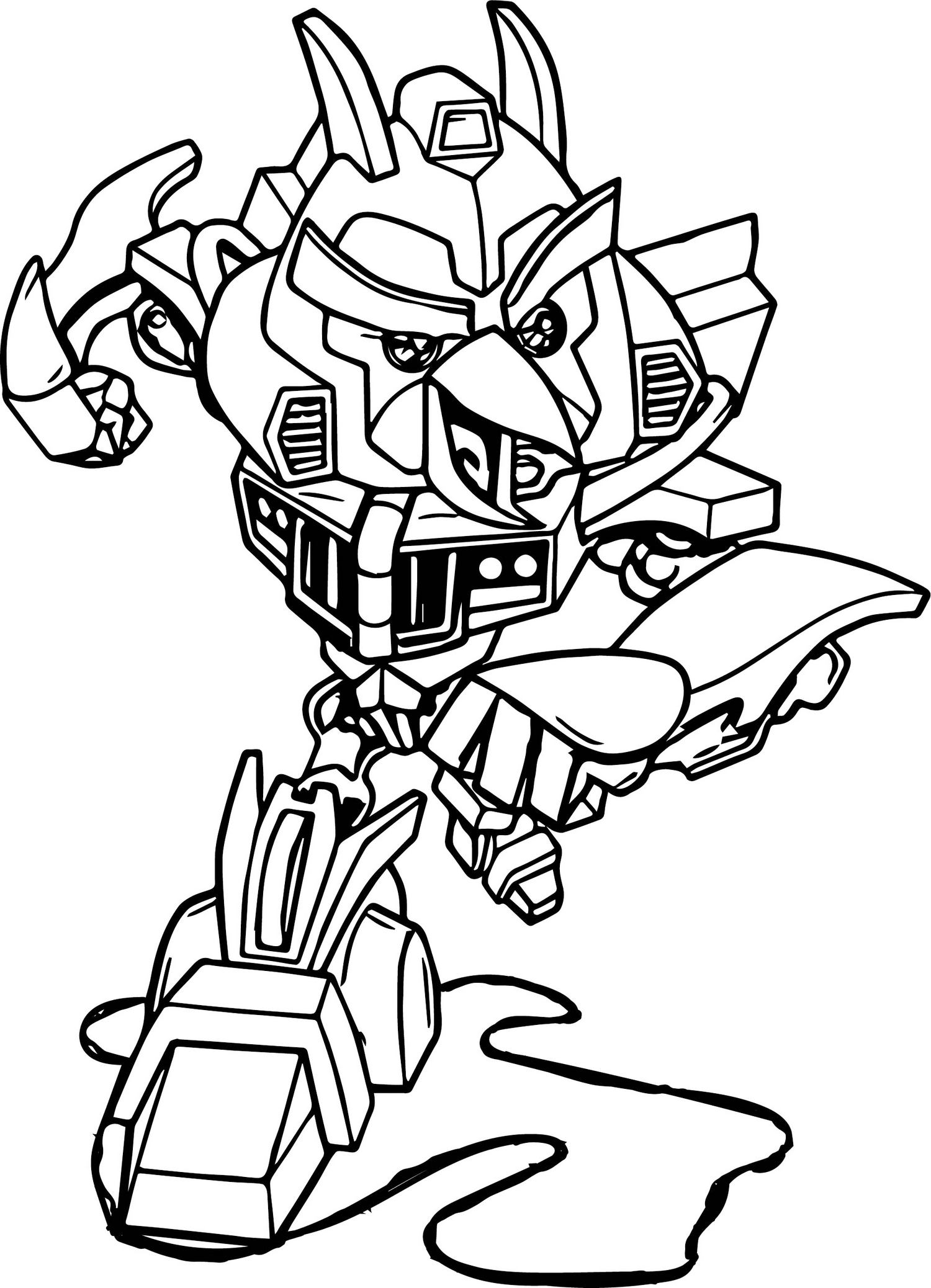 Angry Bird Transformers Bumblebee Coloring Sheet