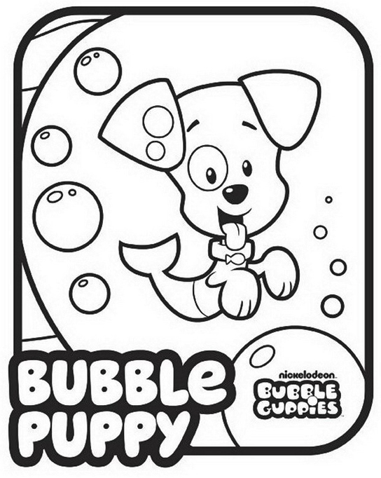 Bubble Guppies Nickelodeon Coloring Pages Printable