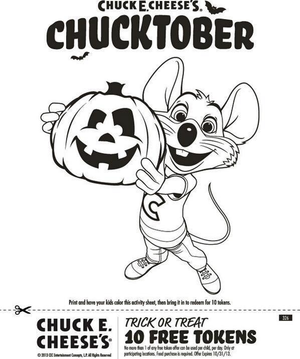 Chuck E Cheese Coloring Page Chucktober
