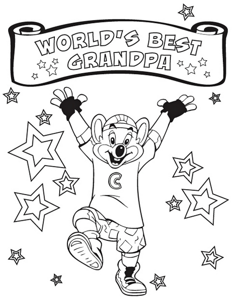 Chuck E Cheese Coloring Page To Print