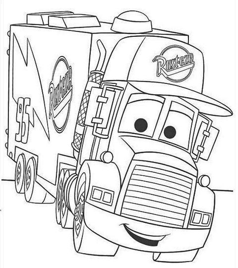 Disney Movie Mater Coloring Pages Printable