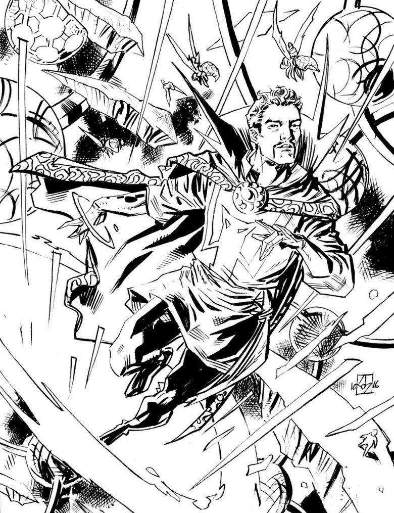 Doctor Strange Coloring Sheet To Print