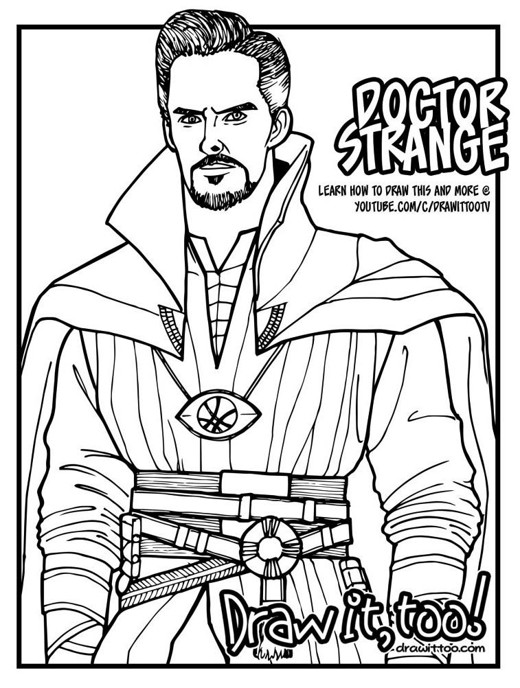 Dr Strange Coloring Page For Kids