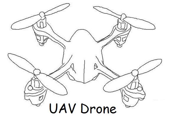 Drone Flight Coloring Page