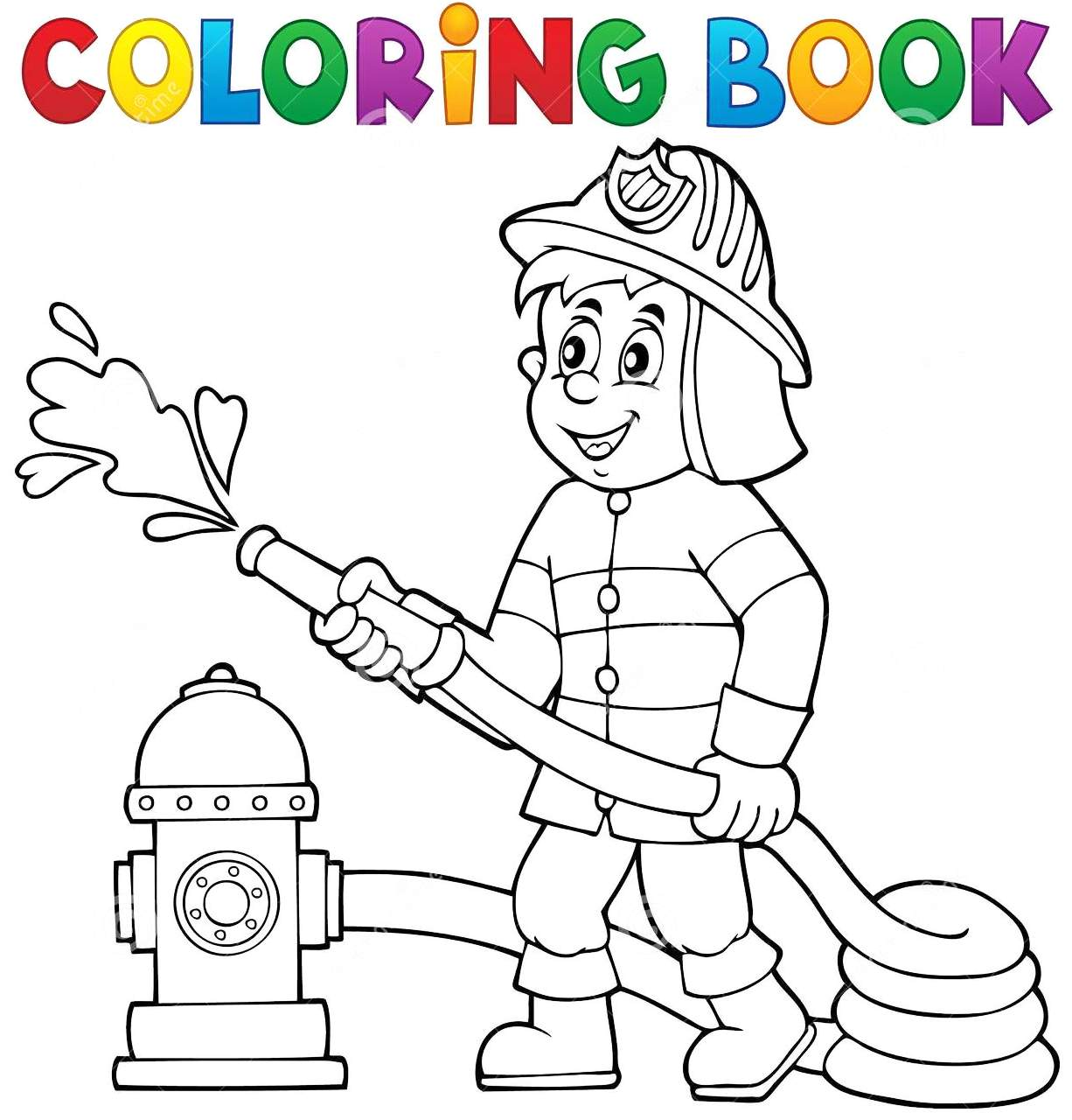 Firefighter Coloring Book Printable