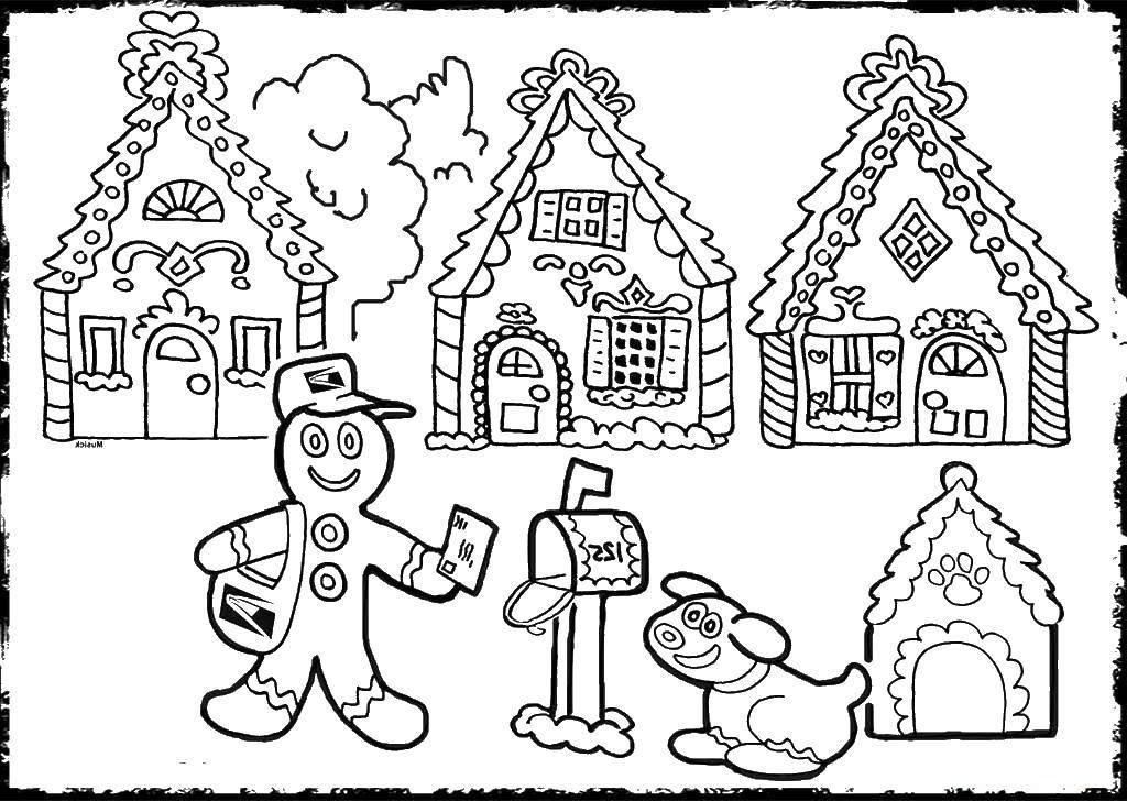 Gingerbread House Drawings