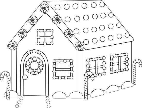 Gingerbread House Clip Art To Print