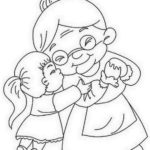 Grandparent And Grandchild Coloring Page