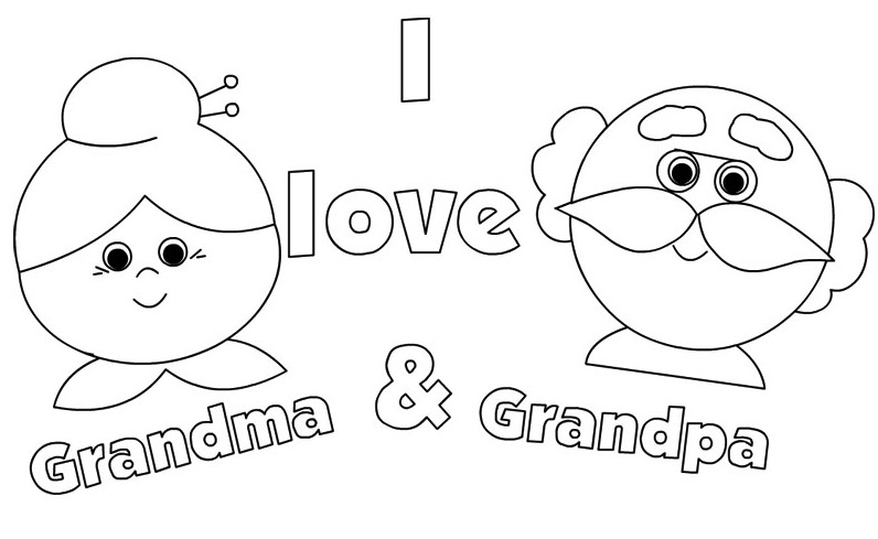 Grandparents Coloring Pages To Print