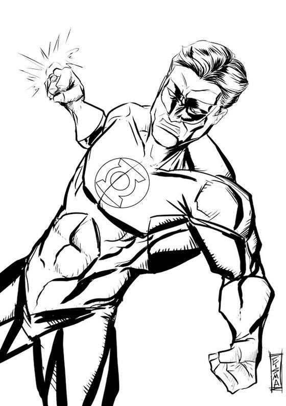 Green Lantern Coloring Sheet Superhero