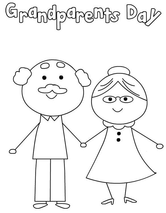 Happy Grandparents Day Coloring Pages