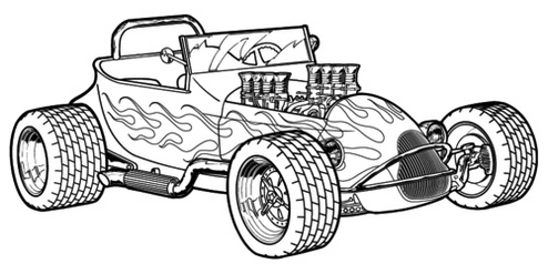 Hot Rod Clip Art