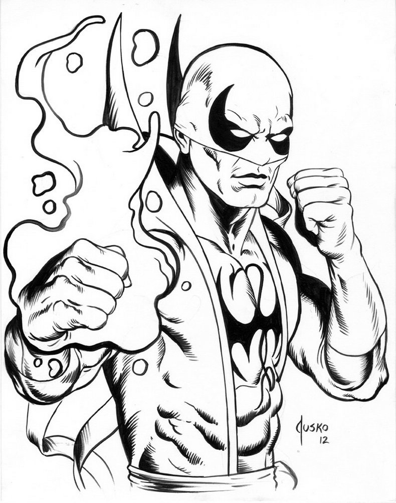 Iron Fist Coloring Pages Printable