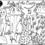 Lady Of The Castle Coloring Page Paper Doll And Dress