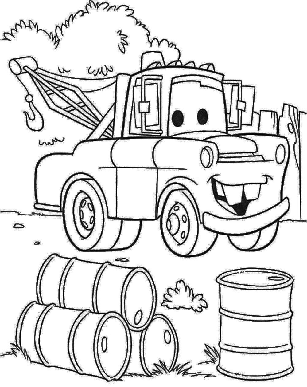 Mater Colouring Pages To Print