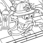 Minions Firefighter Coloring Page To Print