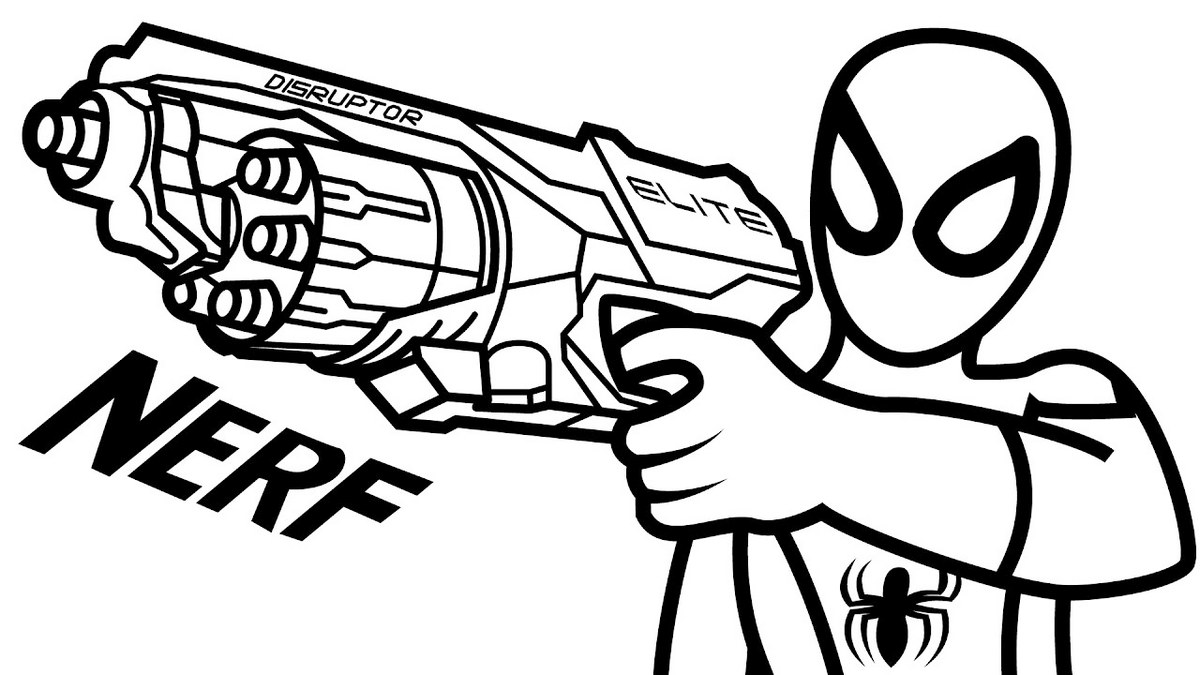 Nerf Gun Coloring Page To Print