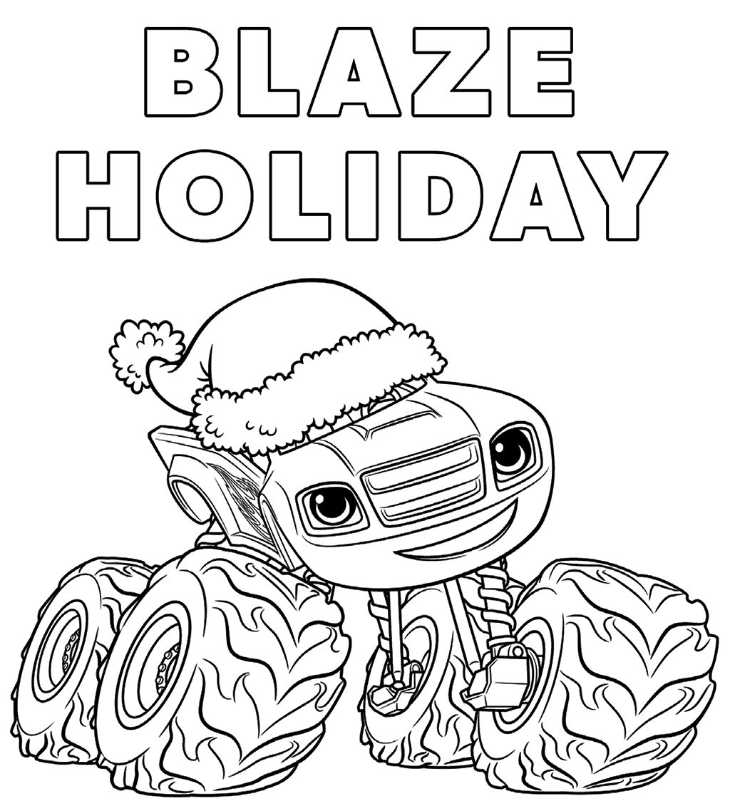 Blaze And The Monster Machines Nick Jr Coloring Pages