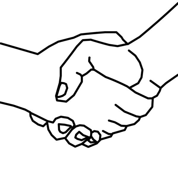 Handshake Coloring Page To Print