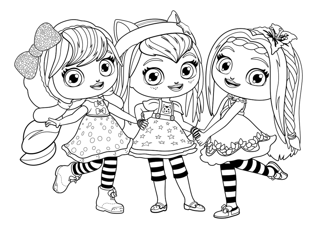Little Charmers Group Coloring Sheet