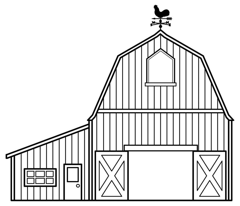 Barn Coloring Sheets To Print