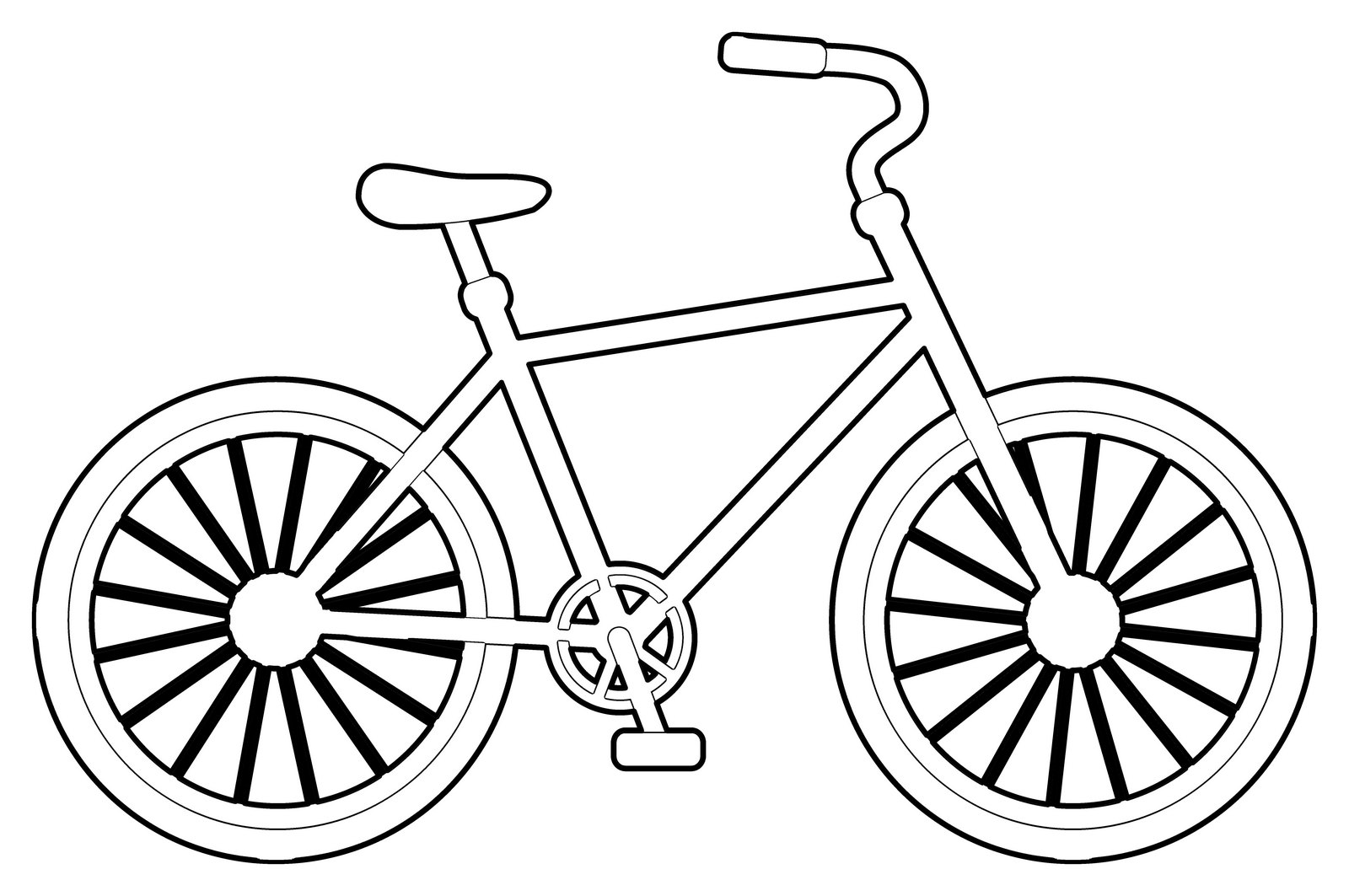 Bicyle Riding Coloring Page For Kids