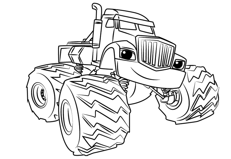 Blaze And The Monster Machine Coloring Pages For Free
