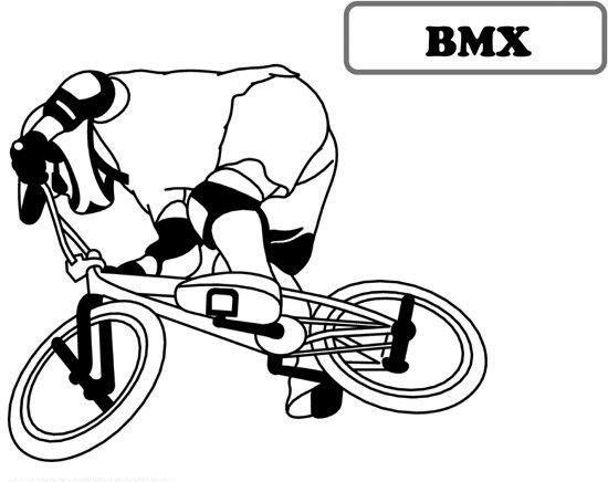 Bmx Bicycle Coloring Sheet
