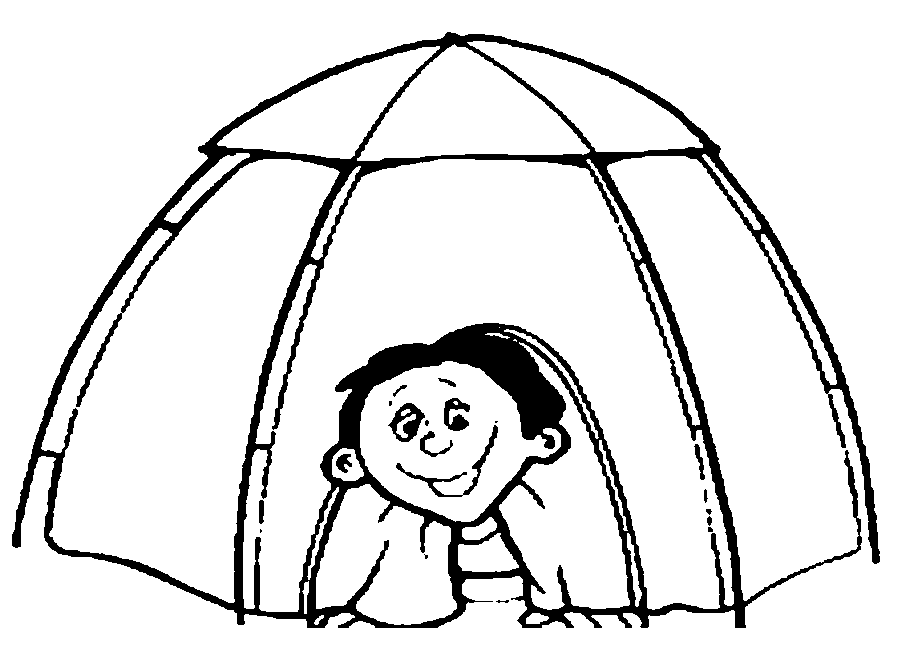 Camping Tent Coloring Pages To Print